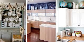 above kitchen cabinets ideas. Beautiful Decorating Ideas For Above Kitchen Cabinets Design The Space