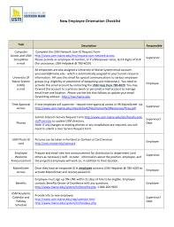 Ispi New Employee Orientation Checklist