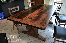 reclaimed dining table farmhouse ontario gerald reinink 3 toronto reclaimed wood table trestle resin