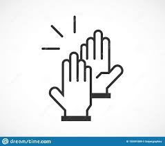 High Five Design High Five Sign Of Success Icon Stock Vector Illustration