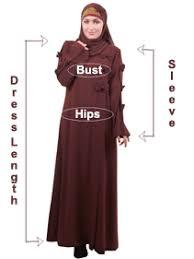Abaya Size Chart Islamic Clothing Size Chart For Abaya
