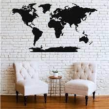 metal wall art metal world map