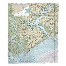 Sc Edisto Island Sc Nautical Chart Blanket In 2019