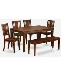 dining bench faux leather. cadu6c-mah mahogany rubberwood 6-piece kitchen table with dining bench (faux leather faux s