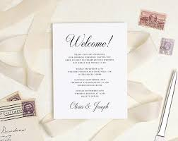 Welcome Card Templates Welcome Guests To Your Wedding Weekend With These Hotel