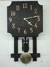 antique frank lloyd wright style arts crafts prairie mission wall clock on wall clock arts and crafts with arts crafts clock ebay
