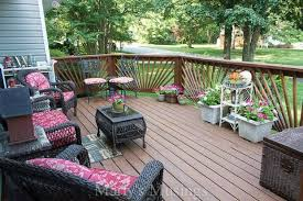 Deck furniture ideas Patio Furniture Try These Deck Decorating Ideas On Budget To Create Gorgeous Outdoor Room With Martys Musings Deck Decorating Ideas On Budget