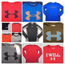 Details About Youth Boys Under Armour Shirts All Sizes Long Sleeve School Casual Play