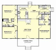 one story house plans with bedrooms on opposite sides lovely ranch style house plan 3 beds