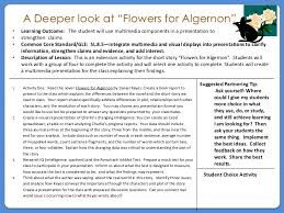 ways not to start a flowers for algernon essay flowers for algernon originally appeared as a novelette in the 1959 issue of the magazine of fantasy and science fiction before the surgery essay