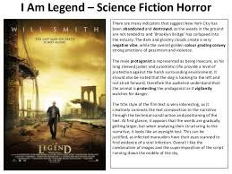 science fiction film poster analysis i am legend