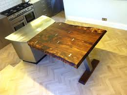 Table Diner Design Table Diner Design Server Elm Oak Natural Stainless Steel