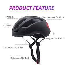 Usb Helmet Light Victgoal Magnetic Goggles Bike Helmet W Usb Rechargeable Rear Light