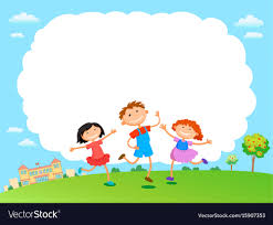 Clouds Design Children Play Clouds Design Over Sky Background Vector Image