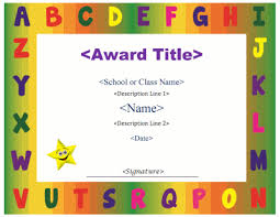 Children Certificate Template Free Printable Children S Certificates Templates Certificate For