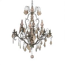 creative coop chandelier iron chandelier with wood beads open box haven metal chandelier by creative co op creative co op black beaded chandelier