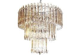 beveled glass chandelier mid century modern crystal replacement panels replacem