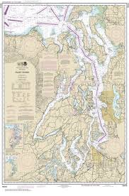 Noaa Navigation Charts 18440 Puget Sound Nautical Chart