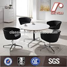 round table conference table white modern round conference table ct 608