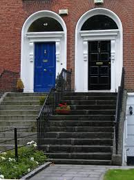 black single front doors. Delightful Image Of Small Front Porch Decoration Using Single Blue Ornate Doors Including Black Wrought S