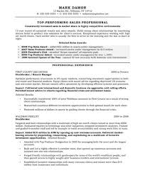 Investment Representative Sample Resume
