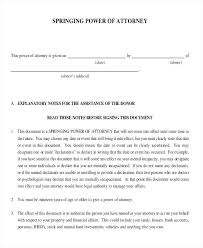 Financial Power Of Attorney Template Power Of Attorney Template