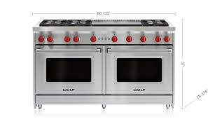 60 gas range 6 burners and infrared dual griddle