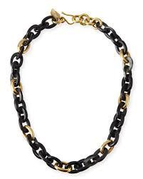 meli short collar necklace in dark horn quick look ashley pittman