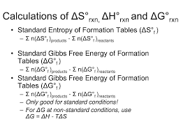 Free Energy Of Formation Chart Ppt Entropy And Free Energy Powerpoint Presentation Free