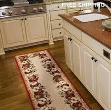 Dining Room APPLE Area Olefin Runner Rug Carpet Floor Dinning Kitchen USA  Made