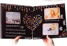Photo Albulm Ready Stock Hand Made Hardcover Black Paper Photo Album Diy Scrapbook Yearbook