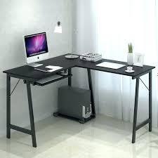 sauder beginnings corner desk corner desk keyboard tray stylish minimalist corner computer desk black color with keyboard tray and