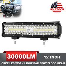 4x4 Led Lights Ebay Details About 12 Inch Led Work Light Bar Spot Flood Beam Offroad Fog Driving 4wd 4x4 Reverse