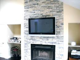 reface brick fireplace refacing with slate tile stone cost resurface concrete