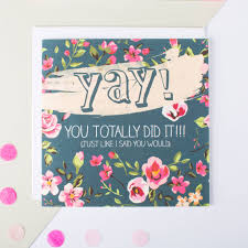 Congratulations Card Yay You Totally Did It By I Am Nat