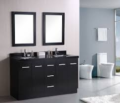Dark Cabinet Bathroom Contemporary Excellent Rectangular Wooden Dark Cabinets Brown