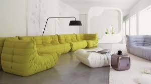 31. simple floor sofa with ottoman