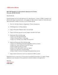 N 400 Cover Letter Sample
