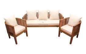 Sleek Wooden Sofa Designs Cozy Round Teak Sofa Set Ws 17