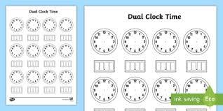 Dual Time Clock Template Worksheet Worksheet Worksheet