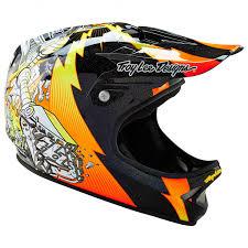 Troy Lee Designs Mountain Bike Helmet Troy Lee Designs D2 Invade Bike Helmet Black Xs S