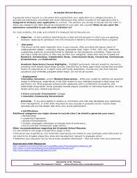 Resume Template For Graduate School Application Graduate School Resume Template Best Of Resume Template For High 6