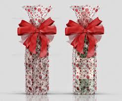 clear gift bag mockup