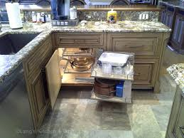 kitchen cabinets lighting. Kitchen Design With Automated Light Inside Corner Pull-out Cabinet. Kitchen Cabinets Lighting