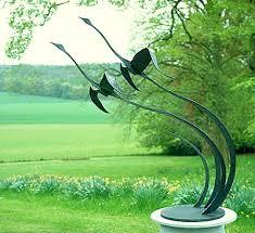 flying geese large metal bird sculpture