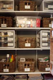 bathroom closet organization ideas. Simple Closet I Love The Use Of Baskets Plus Drawer Units Pretty But Also Very  Functional Must Do This To Our Untility Room And Bathroom Cabinet To Bathroom Closet Organization Ideas