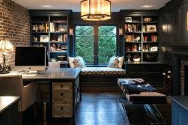 office room layout. Home Office Room Inspiration For A Mid Sized Industrial Freestanding Desk Dark Wood Floor Study Layout