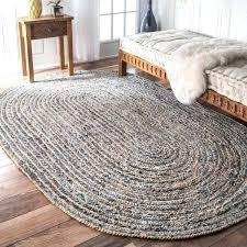 oval rug handmade braided natural fiber jute and denim 5 x 8 free on