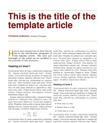 latex templates of scientific articles latex templates  extended essay example layout here given is a professionally written tutorial that explains how to format your ib extended essay