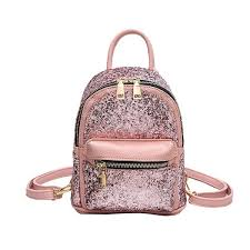 girls sequin backpack leather purse